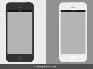 mobile app mockup flat iphone wireframe free psd