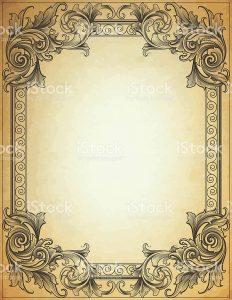 model comp card template broadleaf framework parchment vector id