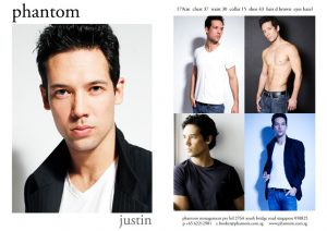model comp card template justin b compcard