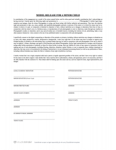 model release form template photo release form for minors template studiobinder