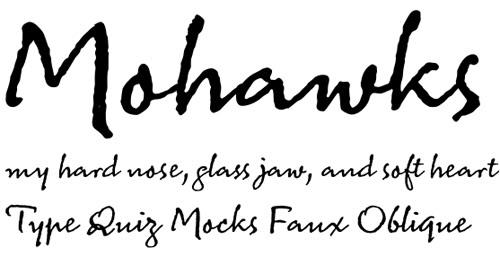 modern cursive font