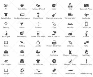 modern website templates online store icons