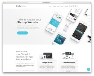 modern website templates jevelin app showcase wordpress theme