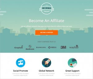 modern website templates mypro affiliate unbounce landing page template x