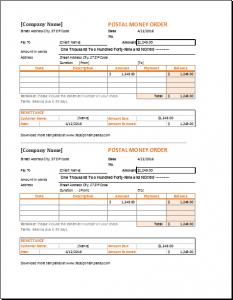 money order template money order receipt