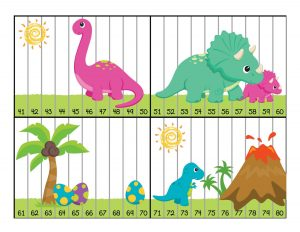montessori lesson plans dinosaur numbers puzzle activity