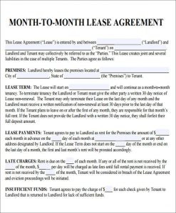 month to month lease agreement roommate month to month rental agreement