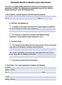 month to month lease template maryland month to month lease agreement x
