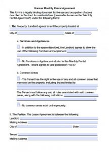 month to month rental agreement form kansas month to month lease agreement x