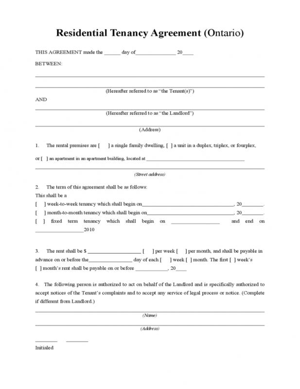 Month To Month Rental Agreement Form Template Business