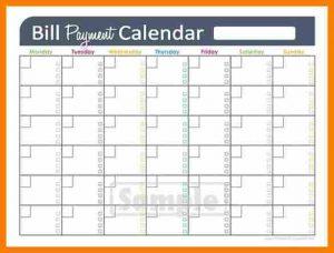 monthly bill template bill calendar template adefffffb