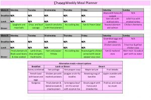 monthly blood sugar log dvees meal planner