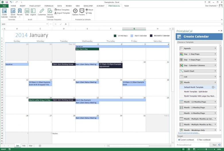 monthly budget templates