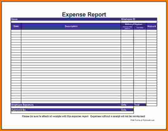 blank expense report form - Moren.impulsar.co