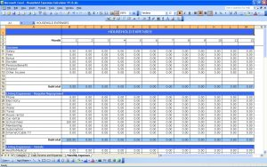 monthly expense spreadsheet business income and expense spreadsheet free templates