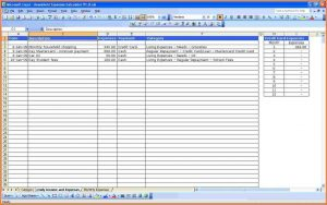 monthly expense spreadsheet monthly spending spreadsheet household expenses