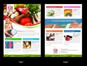 monthly newsletter template dfa image