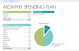monthly profit and loss template organize your finances monthly spending plan