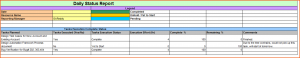 monthly report template daily status report template dailystatusreport