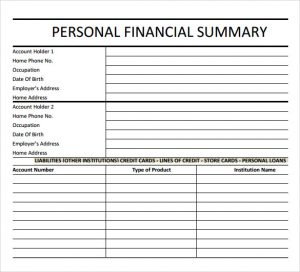 monthly report template simple financial summary template
