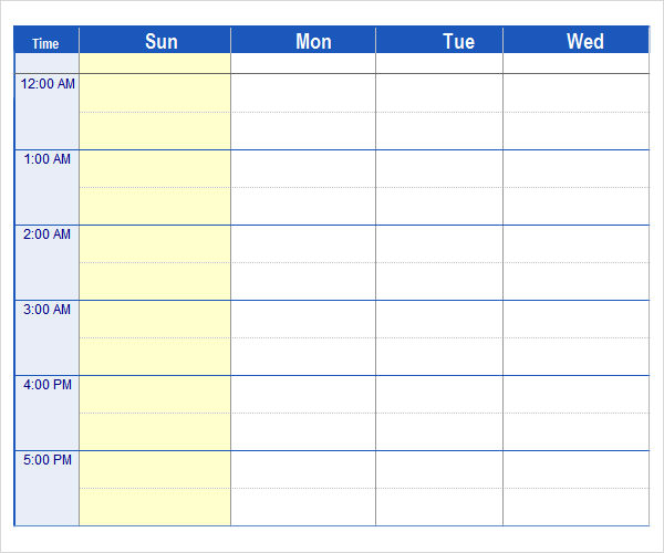 Monthly Schedule Template Excel  Template Business