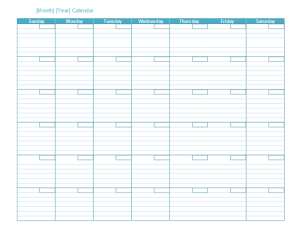 monthly schedule template lt