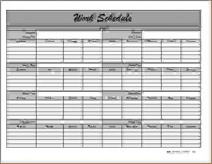 monthly schedule template monthly employee schedule template