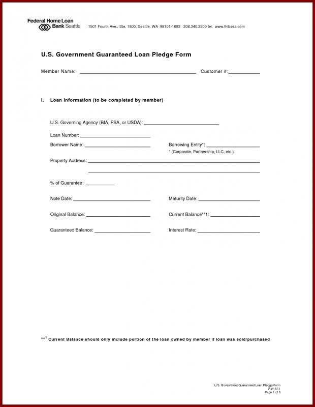 Mortgage Note Form  Mortgage Note Template