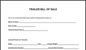 motorcycle bill of sale template trailer bill of sale thumb