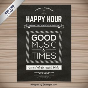 movie poster template psd happy hour poster