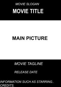 movie poster template psd movie poster sample