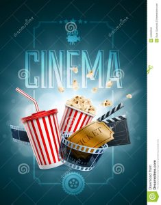 movie poster templates cinema poster design template popcorn box disposable cup beverages straw film strip clapper board ticket detailed