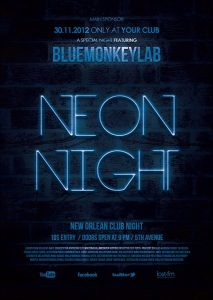 movie poster templates neon flyer template