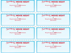 movie poster templates ticket up