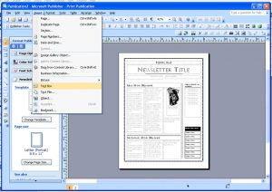 ms publisher templates publisherscreenshot