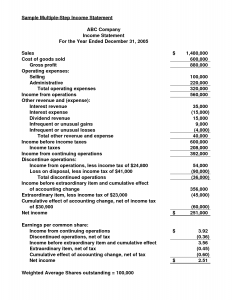 multi step income statement example multiple step income statement nupqyd