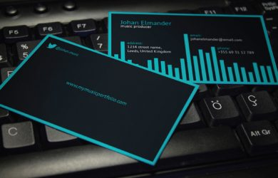 music business cards music business card
