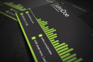 music business cards vector music business card template