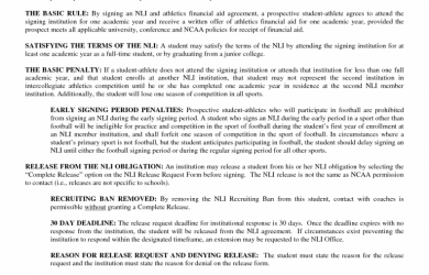 national letter of intent national letter of intent example x