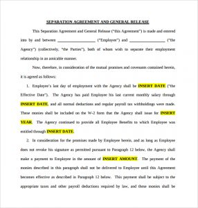 net terms agreement template free business separation agreement
