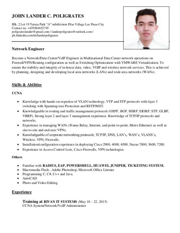 Network Engineer Resume  Resume Network Engineer