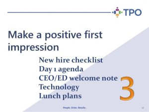 new employee checklist new employee onboarding tips for non profit organizations