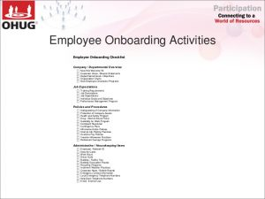 new employee onboarding checklist ohug automated employee onboarding and offboarding by smarterp