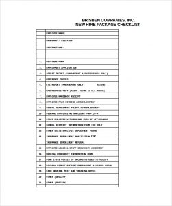 new hire checklist template new hire checklist excel format download