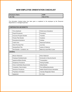 new hire checklist template new hire checklist template