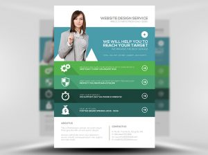 new year flyer web design agency flyer template