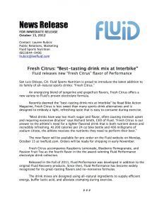 news release format fresh citrus press release