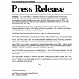 news release format sample press release format