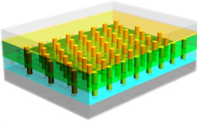 news release template nanopillar array diagram