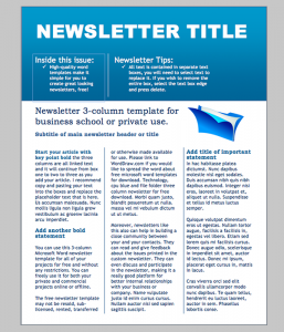 newsletter template word business newsletter template